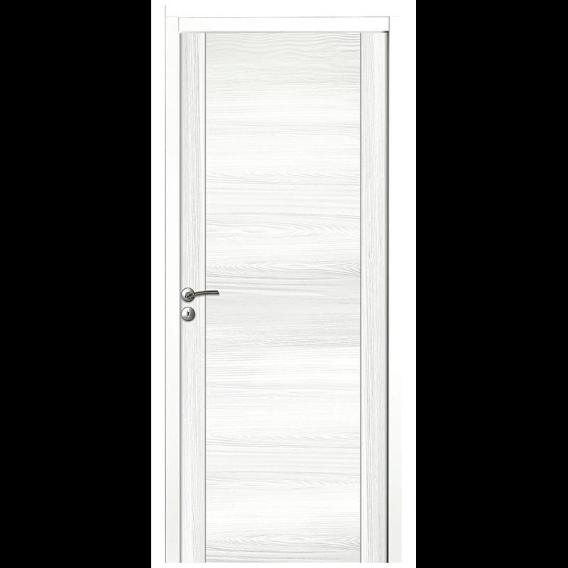 Porte Intérieure En Bois Massif Pleine Décor Blanc - Porte placard coulissante avec porte intérieure pleine