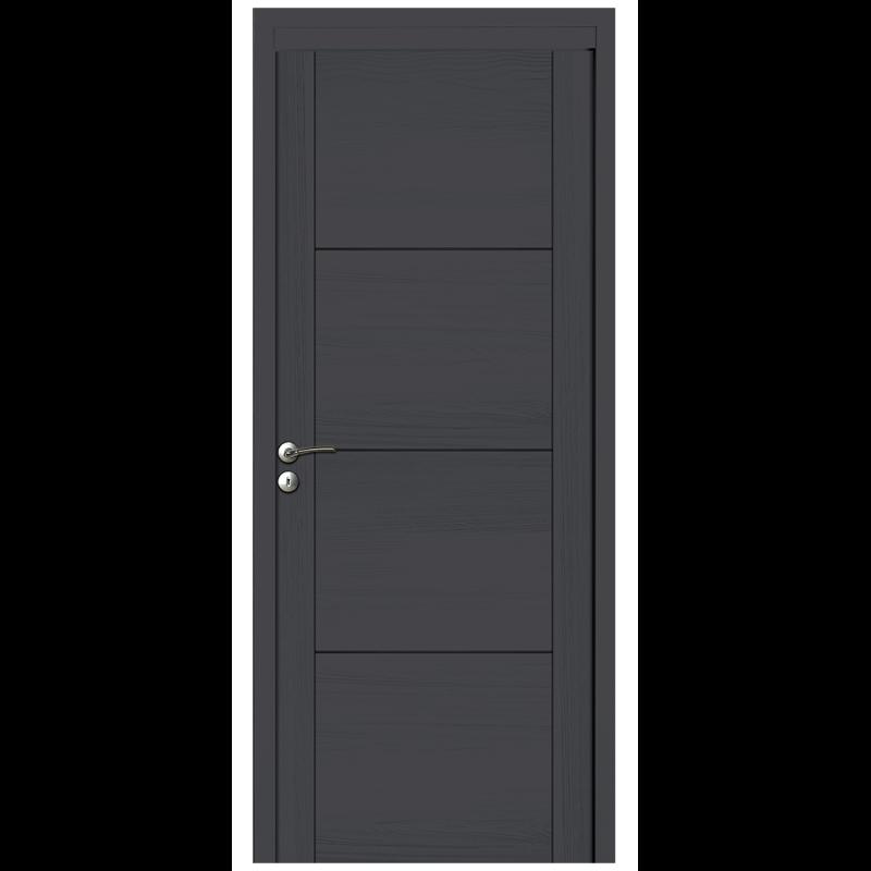 porte int rieure en bois massif avec 3 rainures. Black Bedroom Furniture Sets. Home Design Ideas