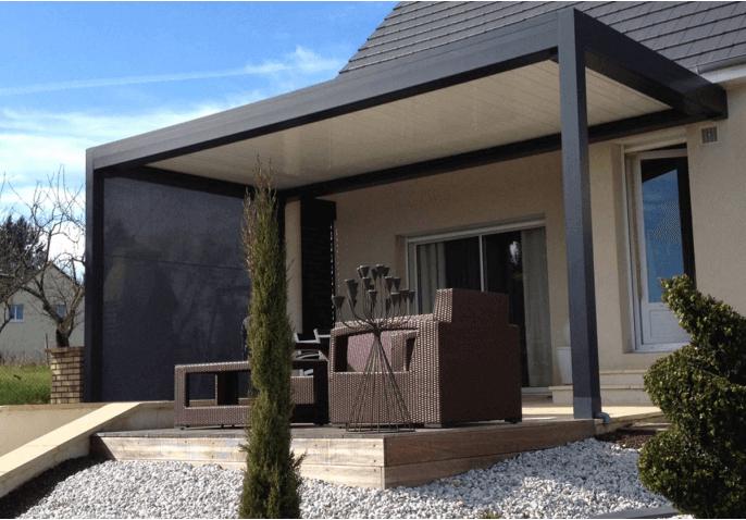 pergola bioclimatique premium. Black Bedroom Furniture Sets. Home Design Ideas