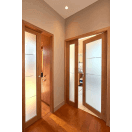 Porte intérieure grand vitrage vertical