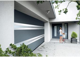 Porte de garage sectionnelle panoramique Premium