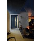 porte avec vitrage géométrique