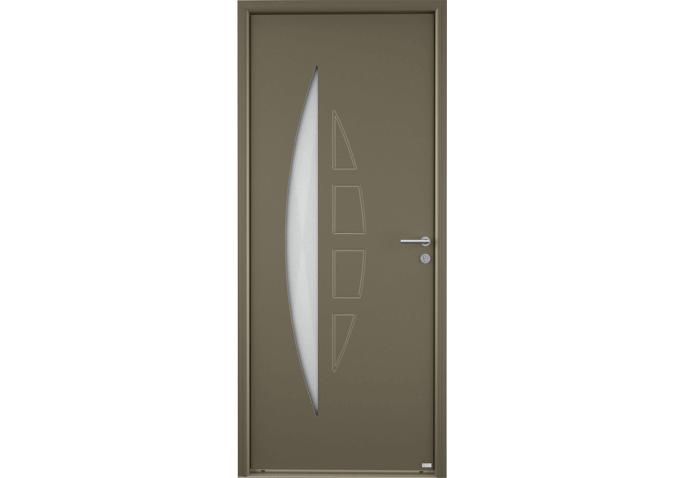 porte d 39 entr e moderne alu 1 grand vitrage demi lune et motif demi lune. Black Bedroom Furniture Sets. Home Design Ideas