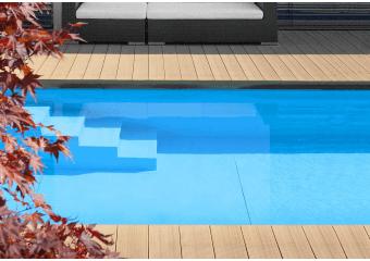 Large lame de terrasse composite rainurées XL