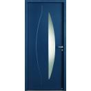 Porte vitrée et ligne verticale allongée