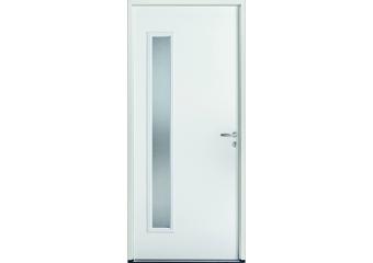 Porte de service acier avec vitrage rectangulaire vertical