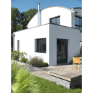 Porte fenêtre PVC gris anthracite moderne