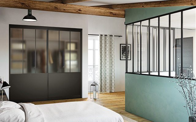 am nager sa chambre avec dressing verri re et portes de. Black Bedroom Furniture Sets. Home Design Ideas