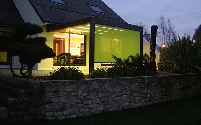 Eclairage LED intégré à la pergola bioclimatique