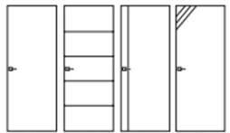 Croquis portes intérieures sans insert