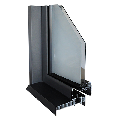 Coupe profil porte-fenêtre alu Perform
