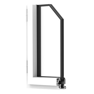 Coupe profil porte-fenêtre aluminium Premium
