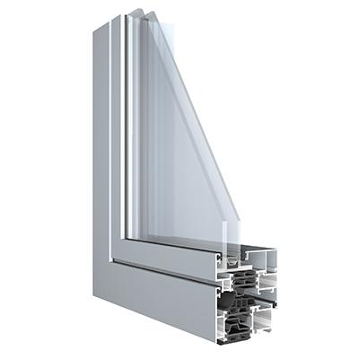 Coupe profil porte-fenêtre alu Ultimum