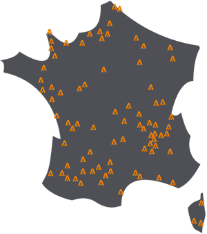 Carte des magasins menuiseries Caséo