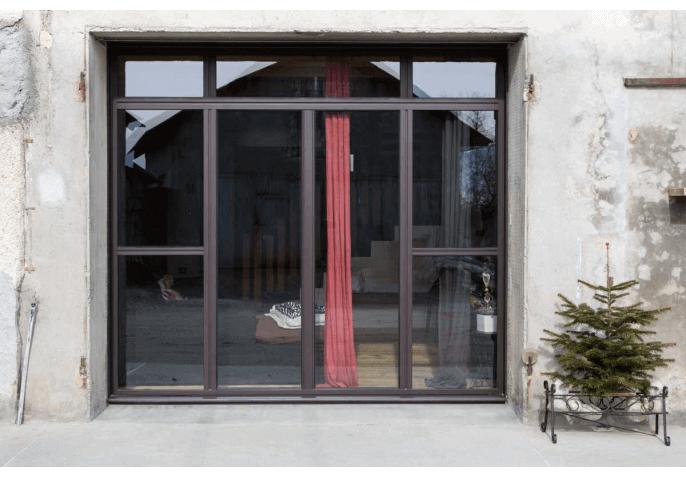 Réalisation d'un châssis composé avec 2 portes fenêtres battantes à Groisy Annecy