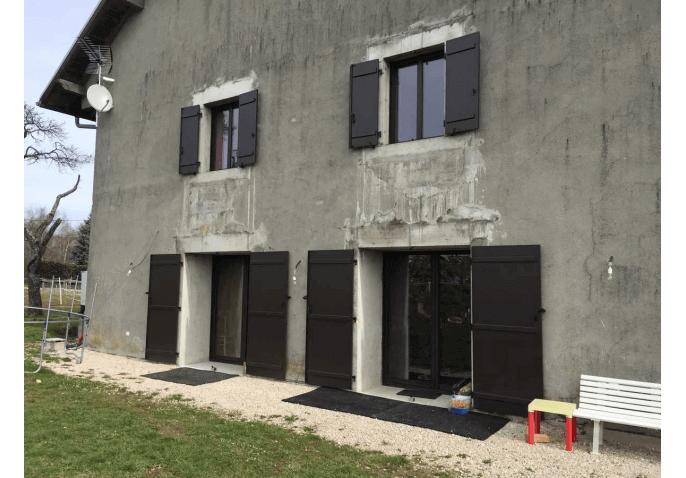 Rénovation baies vitrées coulissantes et volets battants à Groisy Annecy