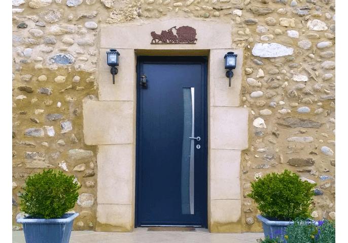 Porte d'entrée alu gris anthracite moderne à St Marcellin