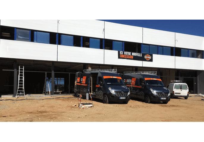 Vitrine, fenêtres aluminium en rénovation