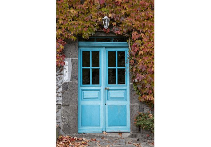 Rénovation ancienne porte d'entrée bois