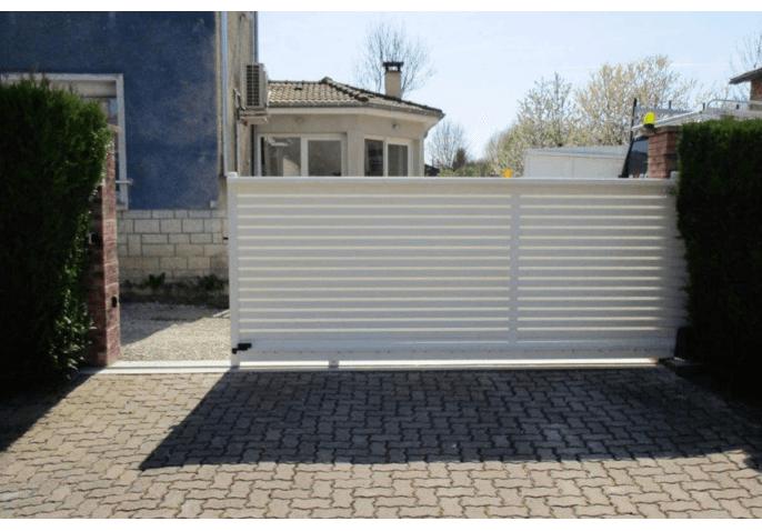 portail coulissant aluminium système air pass