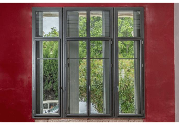Fenêtres et impostes alu anthracite St Marcel sur Aude