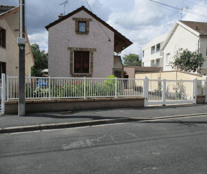 Portail et clôture alu blanc Châlons en Champagne