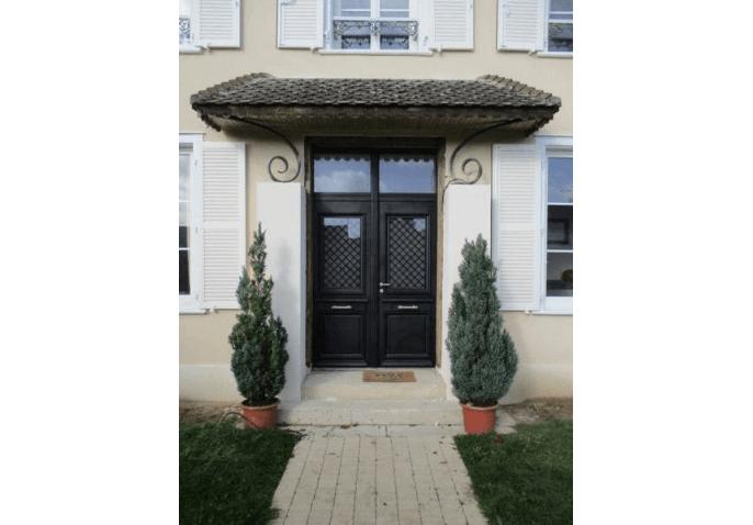 Rénovation porte d'entrée alu classique avec imposte vitrée à Châlons en Champagne