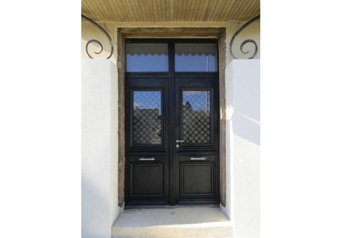 Rénovation porte d'entrée 2 vantaux alu classique à Châlons en Champagne