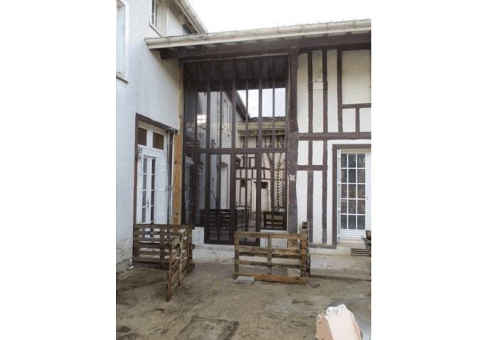 Rénovation fenêtre châssis fixe aluminium bronze à Châlons en Champagne