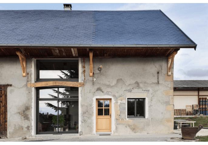 chantier menuiseries Cercier Annecy