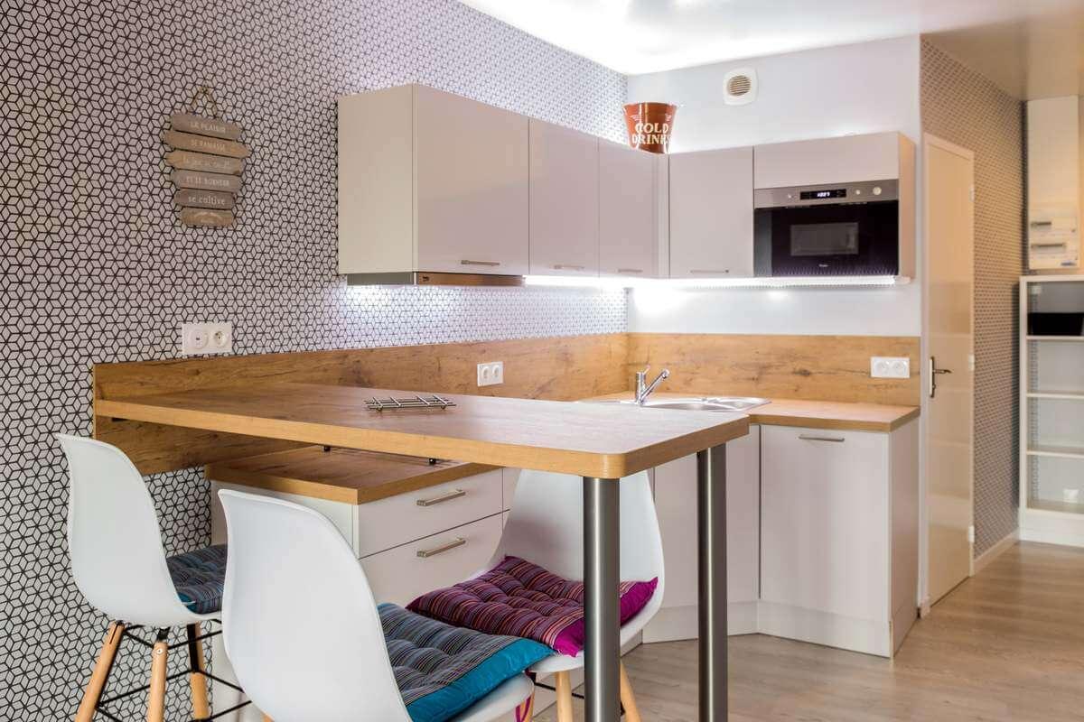 Cuisine Sur Mesure Lille réalisation d'une cuisine sur mesure bois et blanc à granville